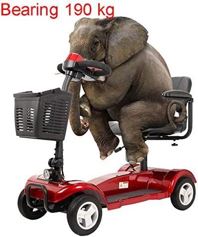 RTUIOP Silla de Ruedas eléctrica Plegable, Motocicleta, Viaje, Cuatro Ruedas, Scooter discapacitado, generación Avanzada, batería de Litio, 24V20AH