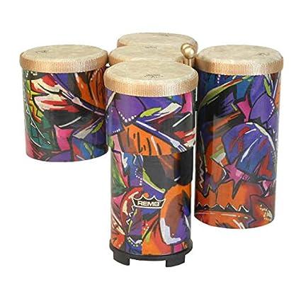 Amazon.com  Remo ET5005-17 5-Piece Drum Set Rainbow Cluster Drum Set   Musical Instruments 2255e918b