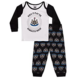Newcastle United FC Official Football Gift Boys Kids Baby Pyjamas