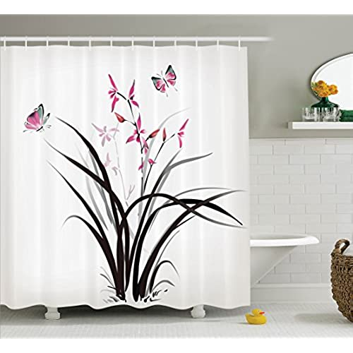 chinese shower curtains. Black Bedroom Furniture Sets. Home Design Ideas