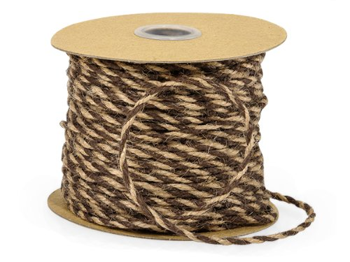 Pack of 1, Chocolate & Natural Duo Color Jute Twine 3-Ply 1/8