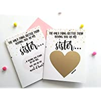 Maid of Honor Proposal Scratch Off Card for Sister