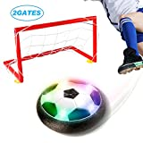 Elongdi Kids Toys Soccer Goals Set, LED Hover Ball with 2 Gates and Net, Football Game Air Power Soccer Training Ball Gift Set Boys Toys for 2, 3, 4, 5, 6, 7, 8, 9, 10 - 16 Year Old Boys Girls