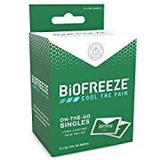 Biofreeze Pain Relieving Gel, 5ml Gel Packets, Box of 10, Cooling Topical Analgesic, On-the-Go Use, Long Lasting…