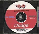 1968 DODGE REPAIR SHOP & SERVICE MANUAL & BODY MANUAL CD COVERING: Dart, Charger, Coronet, Super Bee, R/T, Coronet Deluxe, Coronet 440, and Coronet 500 R/T, Polara, and Monaco series. 68