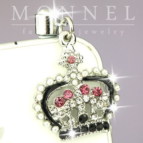Ip613 Cute Queen Crown Crystal Anti Dust Plug Cover Charm for Iphone 4 - Cell Phone Crown Charms