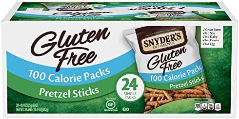 Snyder's of Hanover Gluten Free Pretzel Sticks, 100 Calorie Packs, 24 Count