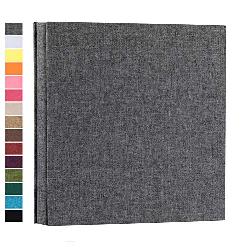 potricher Photo Album for 4x6 600 Photos Linen Cover Extra Large Capacity Photo Book for Family Wedding Anniversary Baby (Gray, 600 Pockets)
