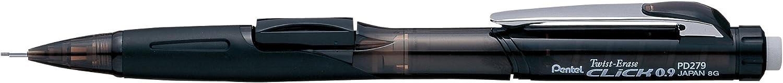 PENPD279TA Pentel Mechanical Pencil 0.9mm,Black Refillable Lead//Eraser
