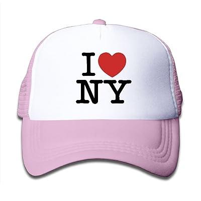 DNUPUP Kid's I Love New York Adjustable Casual Cool Baseball Cap Mesh Hat Trucker Caps