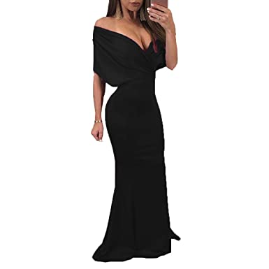 Yi Dao Deep V Neck Prom Dresses Long Sexy Party Prom Evening Gowns Train