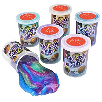 Marbled Slime  Cups   Galaxy Slime   6 Pack Colorful Sludge Great Toy For Any Child Favor, Gift, Birthday – By Kidsco by Kidsco