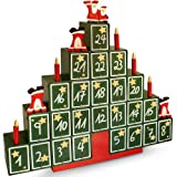 Traditional Wooden Advent Calendar Model Choice Christmas New Home Decoration Reusable DIY Gift with Drawers Pyramid