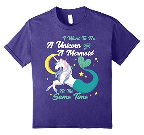 Kids Unicorn T-Shirt To Be A Unicorn And A Mermaid Shirt ...