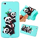 Huawei P8 Lite 2017 Case, Ngift [Sky Blue Panada] [Ultra-Thin] Flexible TPU Gel Soft Rubber Protective Case Shock-Absorption Silicone Bumper Cover for Huawei P8 Lite 2017