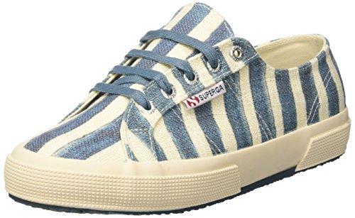 Sneaker azure 2750 White Donna Collo Off Superga Linstripesw Basso a FzqnFgvx