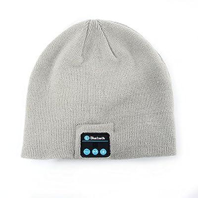 MoreTeam Soft Warm Beanie Hat Wireless Bluetooth Smart Cap Headphone Headset Speaker Mic