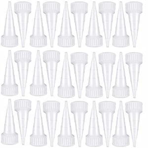 60 Pieces Snip Tip Applicator Cap Replacement for 100ml 3.7 Ounce E6000 Adhesive Tube