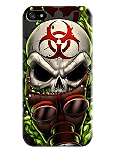 iphone 5/5s Case Cover New Design,best fashion skull iphone Case fell happy LarryToliver #2 wangjiang maoyi