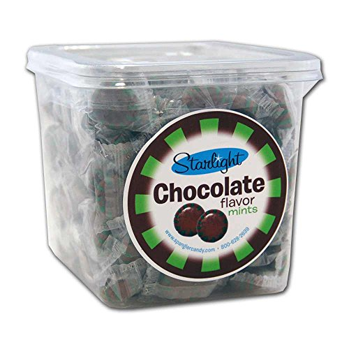 Starlight Chocolate Flavor Mints tub