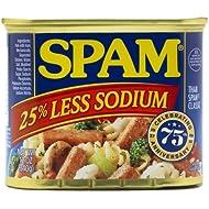 Spam 25% Less Sodium 12 oz (8 Pack)
