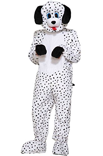 Forum Novelties Men's Dotty The Dalmatian Plush Mascot Costume, Multi Colored, One Size for $<!--$39.99-->