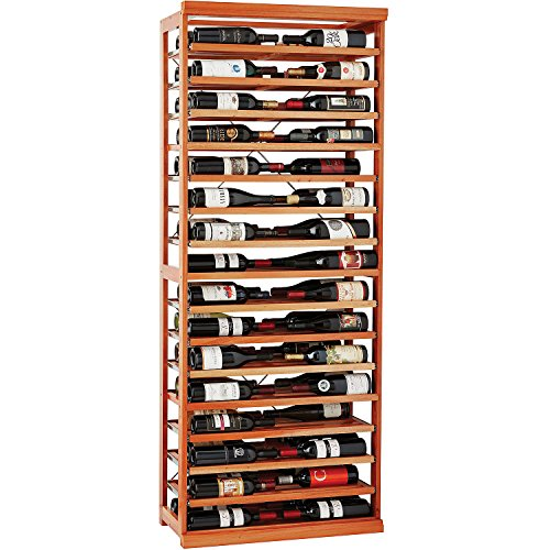 - N'FINITY Label-View Wine Rack Kit with Rolling Shelves - Natural Finish