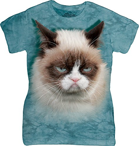 The Mountain Junior's Grumpy Cat Graphic T-Shirt, Teal, Large