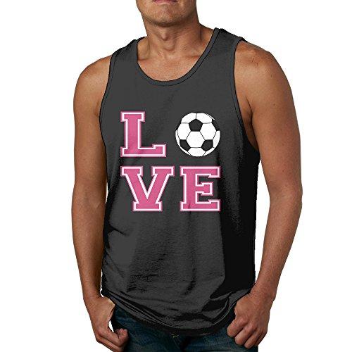 Luyudong LOVE Soccer Men's Creative Sleeveless T-shirt M - Mall Near Seattle