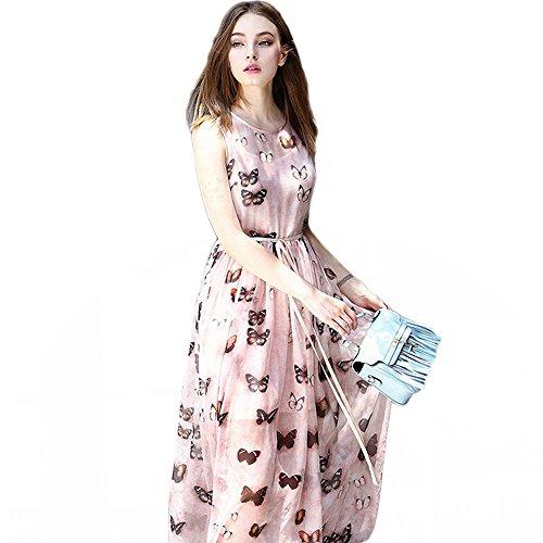 Silk Butterfly Print Dress - 6