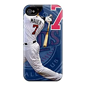 Iphone 4/4s PeY8493ViGJ Provide Private Custom High Resolution Minnesota Twins Skin Anti-Scratch Hard Phone Cover -SherriFakhry