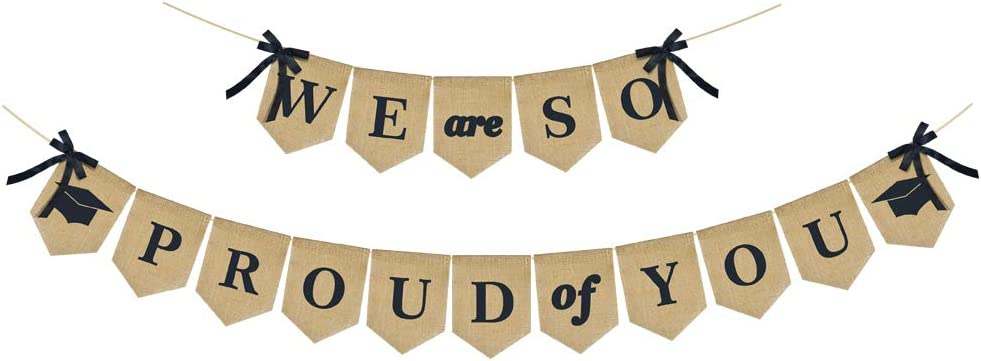 ERKOON WE are SO PROUD of YOU Banner, Graduation Decorations, Perfect for 2020 Graduation Party Supplies, Grad Party Decor for Home, College, Senior, High School Prom Decorations
