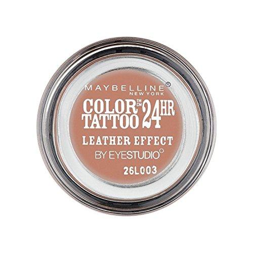 相対サイズトラフ手数料メイベリンカラータトゥー24時間アイシャドウレザー効果98 x4 - Maybelline Color Tattoo 24Hr Eyeshadow Leather Effect 98 (Pack of 4) [並行輸入品]