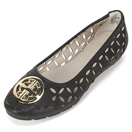 Rialto Genessa Womens Flat Black Smooth