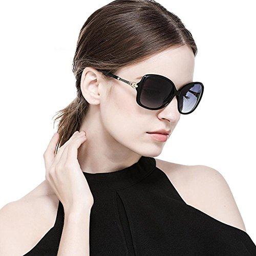 Aoligei Miroir lunettes de pilote lunettes de soleil lunettes de soleil polarisant de couleur double Dame A