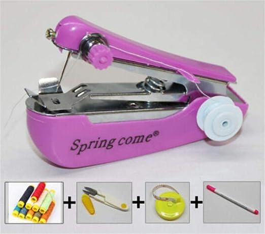 Máquina De Coser Micro Máquina De Coser Manual Mini Hogar Portátil ...