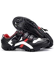 BUCKLOS Zapatos de ciclismo de carretera para hombre con correa de hebilla precisa compatible con peloton zapatos de ciclismo Spin Shoes SPD para Look Delta Lock Pedal interior y exterior