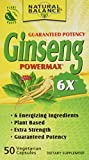 Natural Balance 2000 mg Ginseng Powermax 6x Herbal Supplement, 50 Count For Sale