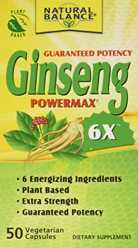 Natural Balance 2000 mg Ginseng Powermax 6x Herbal Supplement, 50 Count