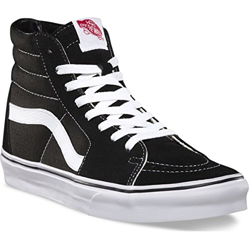 Vans Unisex Sk8 Hi  Canvas  Skate Shoe  6 5 D M  Us Men   8 B M  Us Women  Black White