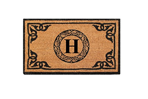 A1 Home Collections PT3006H First Impression Hand Crafted by Artisans Geneva Monogrammed Entry Doormat, 24