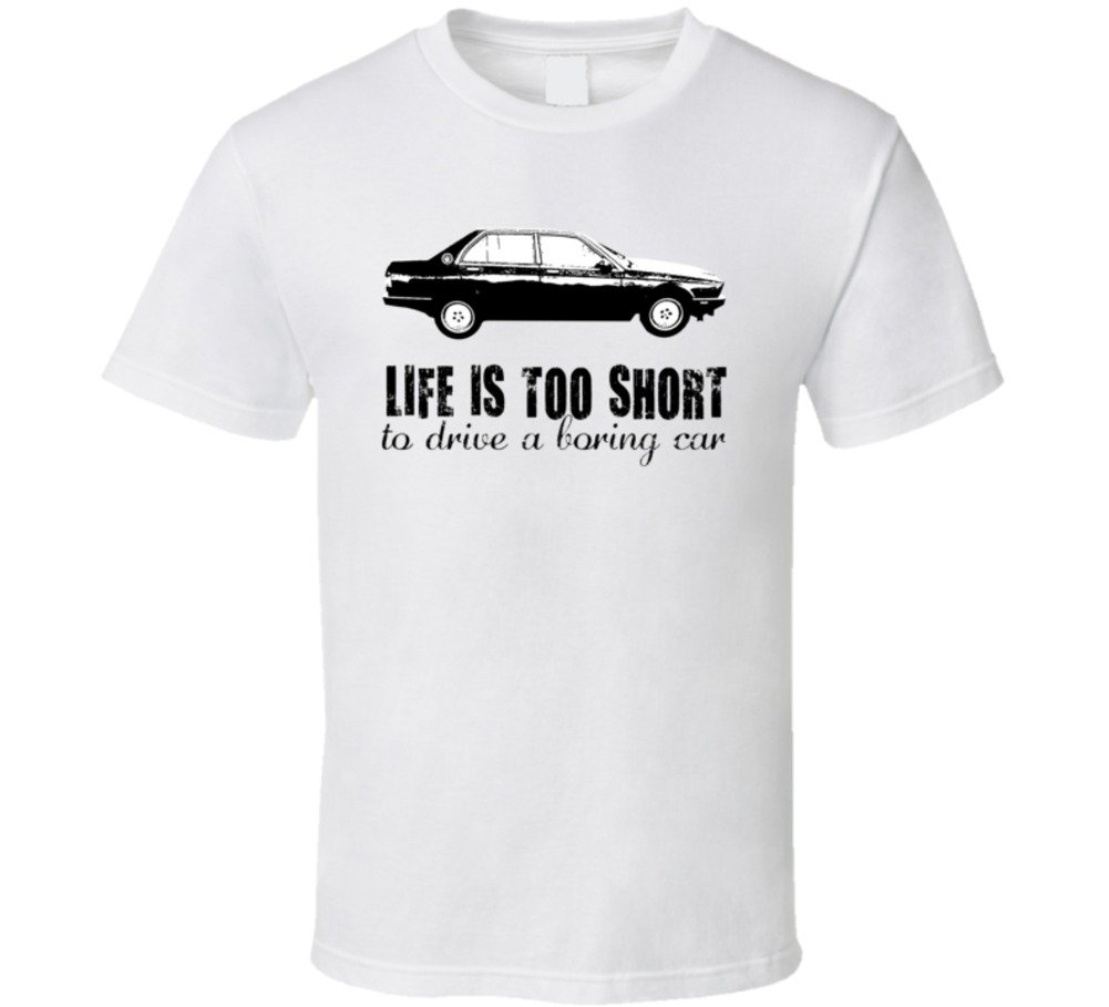 1988 Maserati 430 2 8 V6 B And W Life Is Too Short Car Lover T Shirt