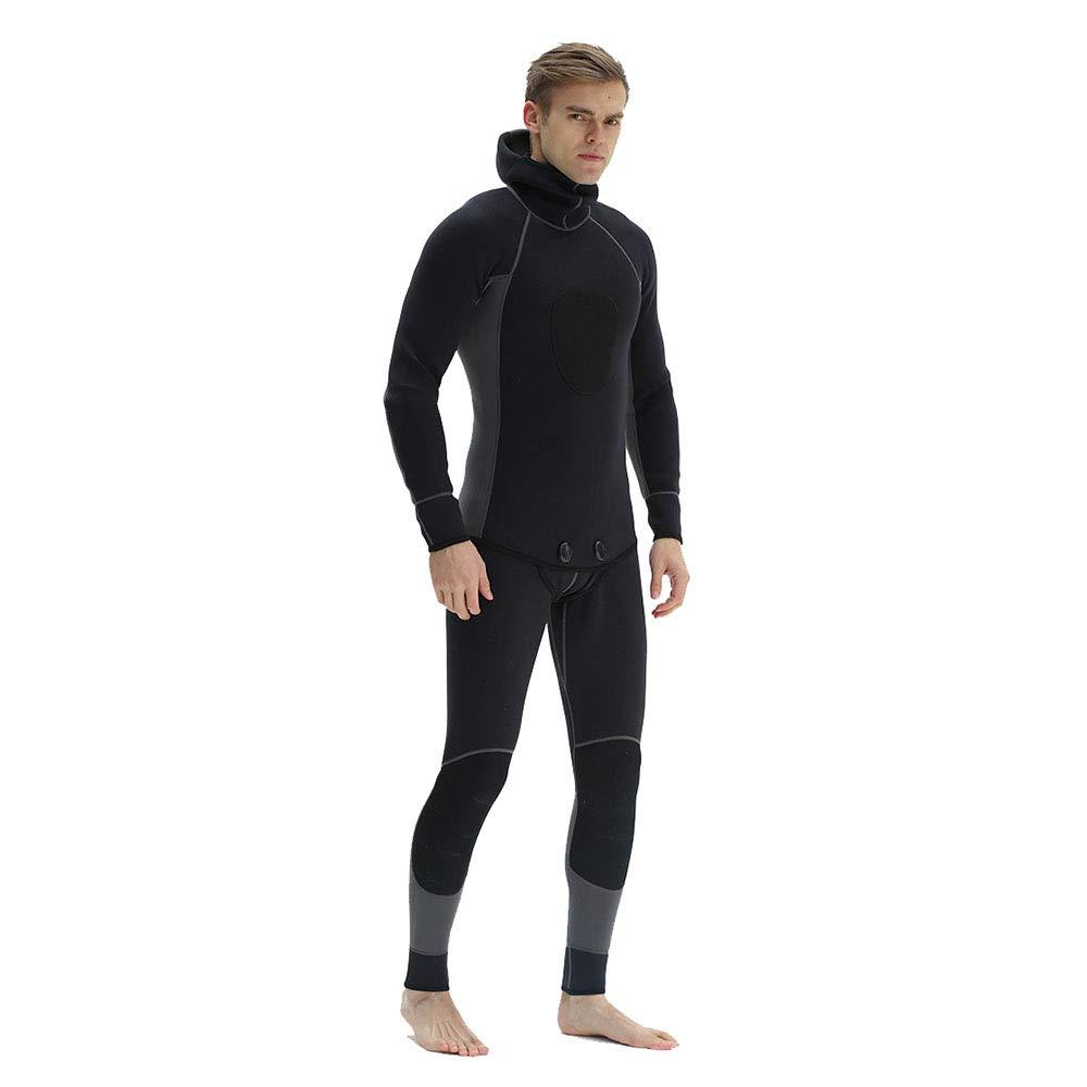 Grey Asia2XL=USXL Qzvof Men's Diving Suit, Adult Split Suit, Sun Predection UV Diving Suit, Suitable for Snorkeling, Diving, Swimming