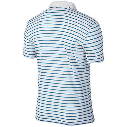 Nike Icon Stripe - Polo de manga corta para hombre Azul foto claro