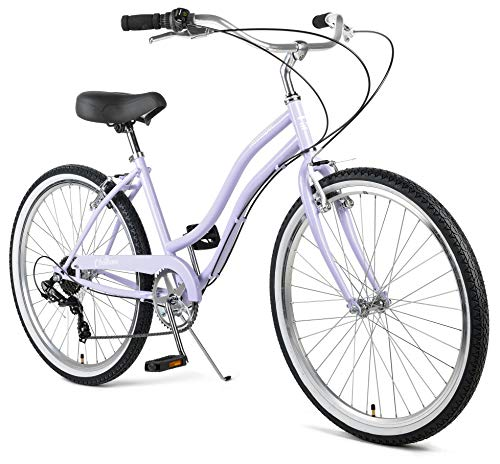 Retrospec Chatham Women's Beach Cruiser; Seven Speed, Light Orchid, 16inch/One Size