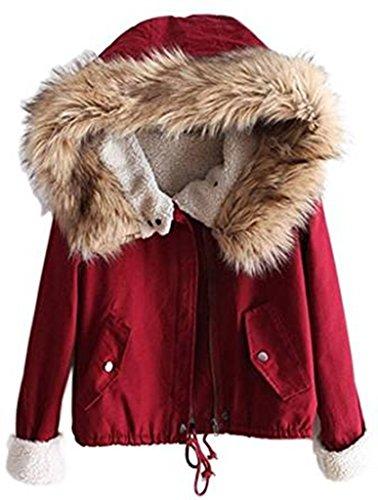 Sevenelks Damen Mädchen Winterjacke Jacke Mantel mit Kapuze  Amazon.de   Bekleidung b5a3be6d57