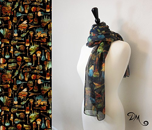 Music Lover Art Scarf by Dan Morris