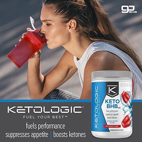 KetoLogic BHB,  Patriot Pop | Ketone Supplement, Suppresses Appetite, Increases Energy, Low Carb, Electrolytes, Beta-Hydroxybutyrate Salts | 60 Servings by Ketologic (Image #6)