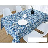 DW&HX Nordic Cotton Linen Table Cover Tablecloths Table Cloth Small Fresh Square Lattice Home Kitchen Easy Care Washable Tablecloth-K 140x140cm(55x55inch)