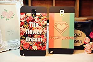 Galaxy Note3 Case,The Flower Dream Protective Back Case Cover for Samsung Galaxy Note3 , 1 piece